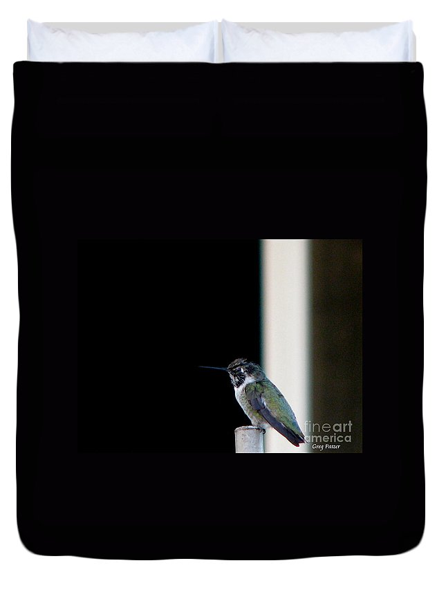 Patzer Duvet Cover featuring the photograph My Friend Stop By by Greg Patzer