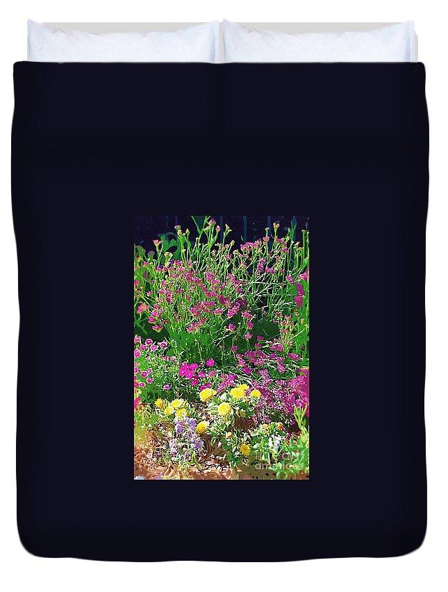Gardens Duvet Cover featuring the photograph My Garden  by Donna Bentley
