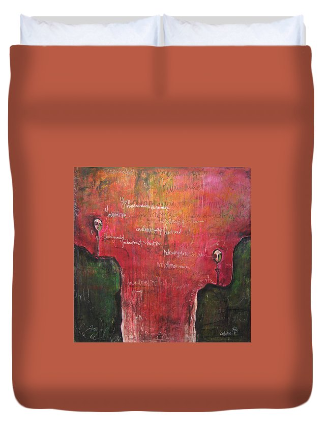 Laurie Maves Duvet Cover featuring the painting My Hill Painting by Laurie Maves ART