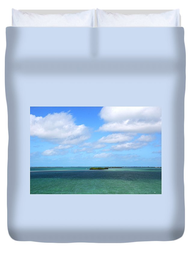 Island Duvet Cover featuring the photograph My Island In The Sand by Susanne Van Hulst