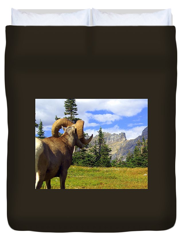 Glacier National Park Duvet Cover featuring the photograph My Kingdom by Marty Koch