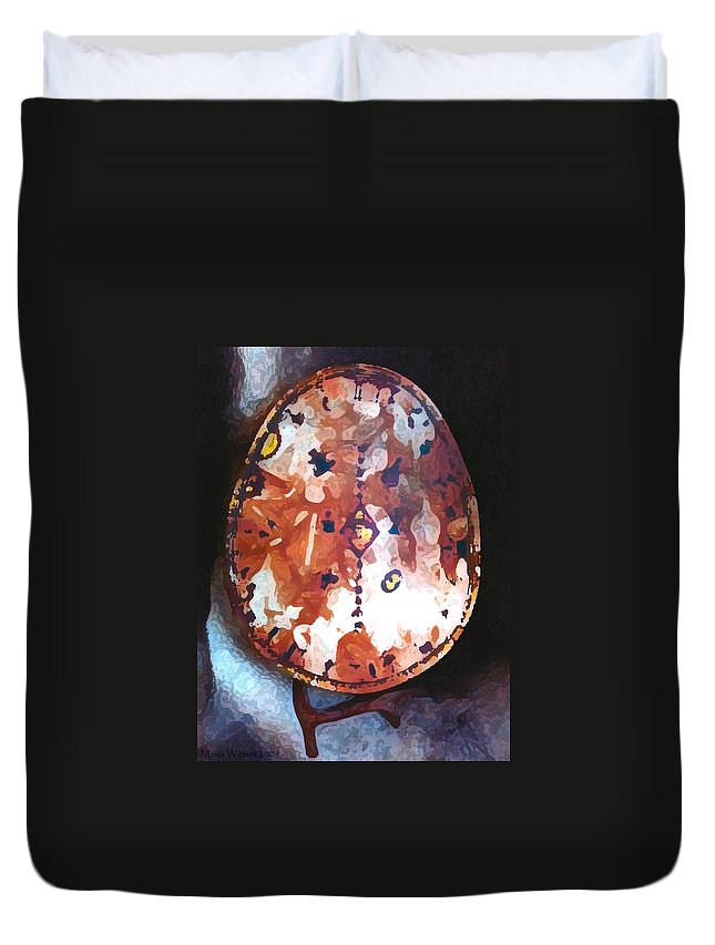 Magic Duvet Cover featuring the photograph My Magic Drum by Merja Waters