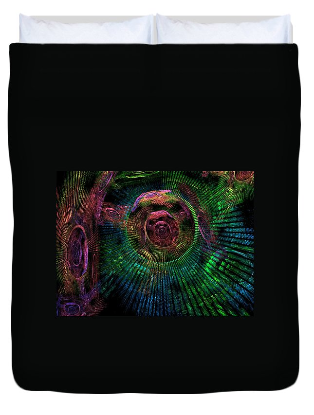 Fractal Duvet Cover featuring the digital art My Mind's Eye by Lyle Hatch