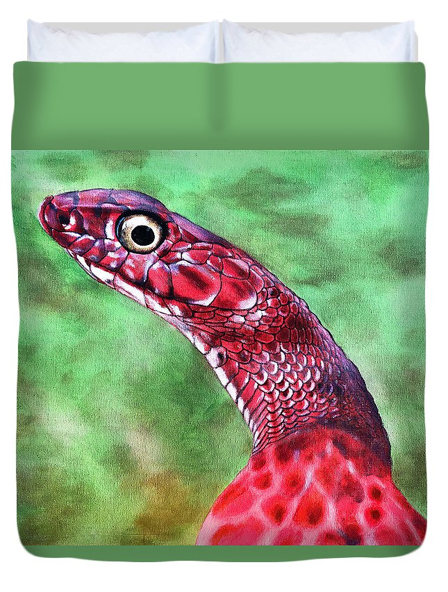 Snake Duvet Cover featuring the painting My Name Is Earl by Donovan Winterberg