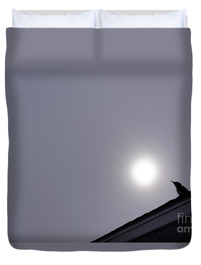 Art Duvet Cover featuring the photograph My Neighbour by Line Gagne