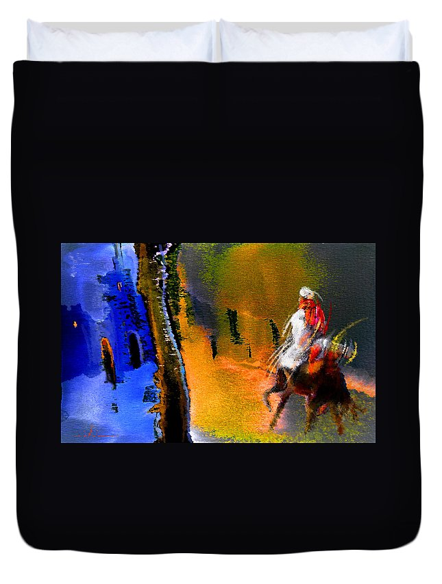 Dream Duvet Cover featuring the painting My Oasis by Miki De Goodaboom