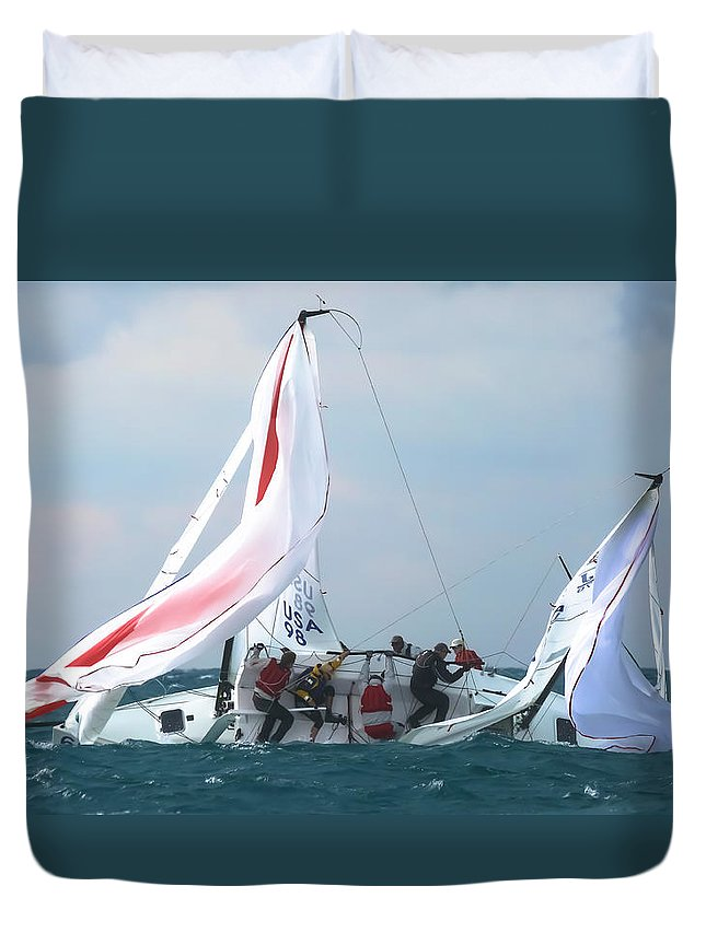 Water Duvet Cover featuring the photograph My Oh My by Steven Lapkin