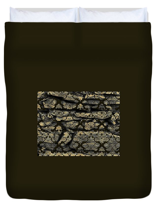 Photography Duvet Cover featuring the photograph My Pretty Rock Wall by Susan Kinney