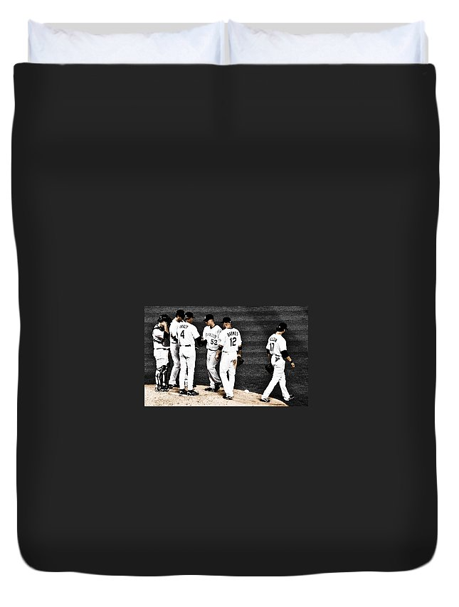 Baseball Duvet Cover featuring the photograph My Rock Collection - Colorado Rockies by Marilyn Hunt