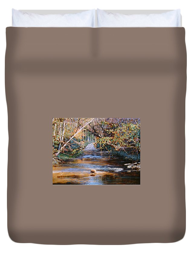 Peace Project Duvet Cover featuring the painting My Secret Place by Ben Kiger