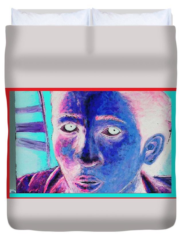 Duvet Cover featuring the painting My Spirit by Christopher