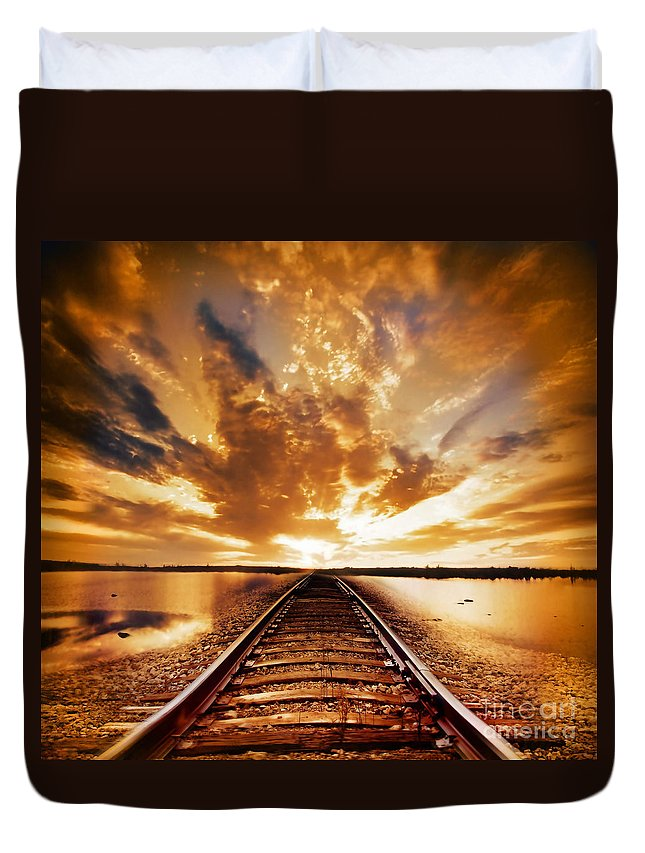 Water Duvet Cover featuring the photograph My Way by Jacky Gerritsen