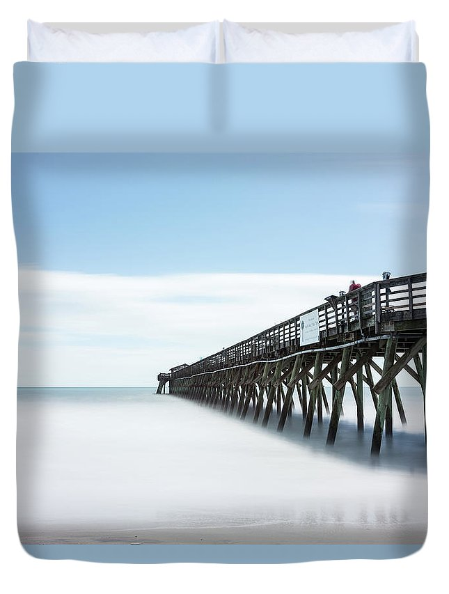 Myrtle Beach State Park Duvet Cover featuring the photograph Myrtle Beach State Park Pier by Ivo Kerssemakers