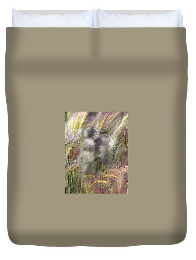 Altered States Duvet Cover featuring the photograph Mysterious Couple by Marty Koch