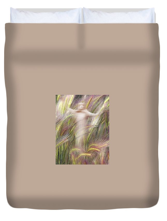 Duvet Cover featuring the photograph Mysterious Lady 2 by Marty Koch
