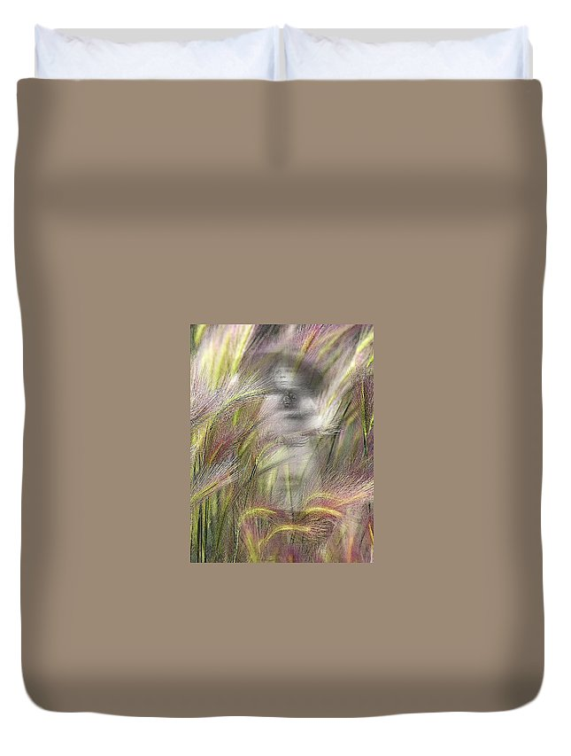 Duvet Cover featuring the photograph Mysterious Lady by Marty Koch