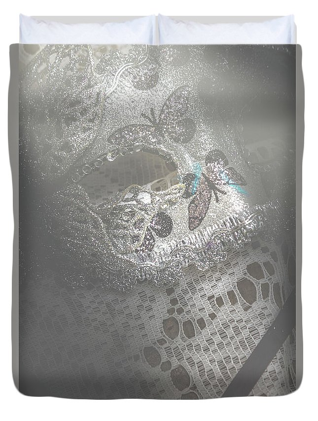 Theater Duvet Cover featuring the photograph Mysterious Pantomime Play by Jorgo Photography - Wall Art Gallery