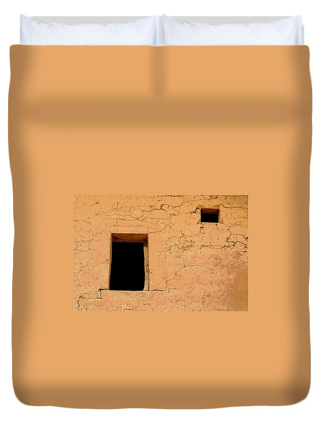 Adobe Duvet Cover featuring the photograph Mysterious Places by Joe Kozlowski