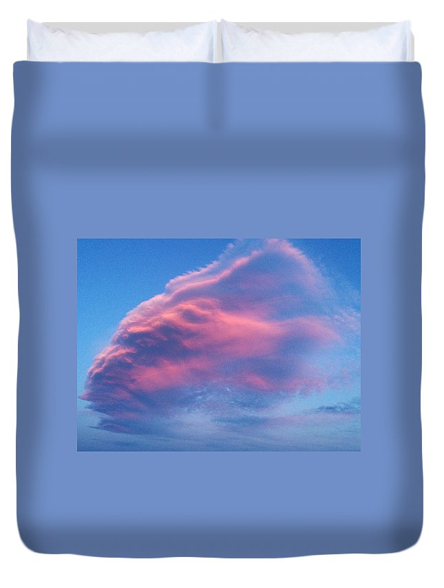 Crazy Cloud Duvet Cover featuring the photograph Mystery Cloud by JoJo Brown