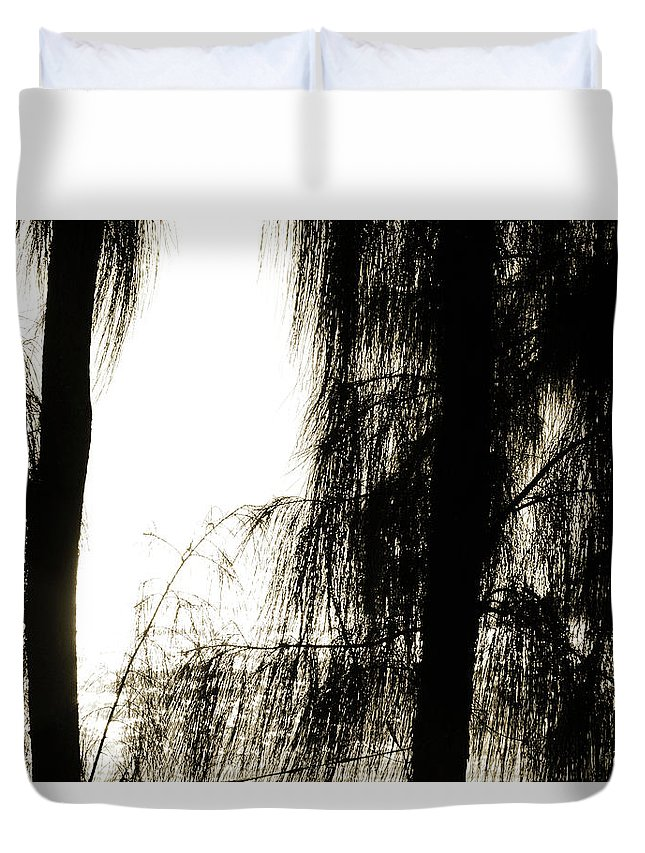 Trees Duvet Cover featuring the photograph Mystery Ocean by Gabrielle Yap