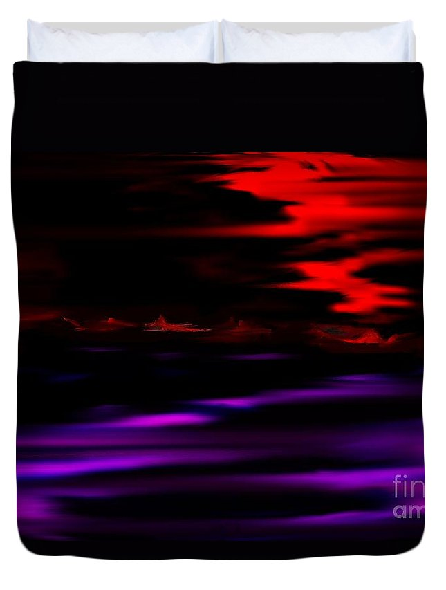 Fantasy Duvet Cover featuring the digital art Mystery World by David Lane