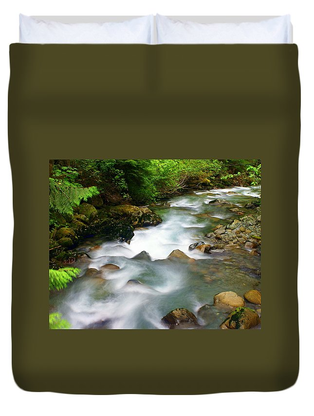 Creek Duvet Cover featuring the photograph Mystic Creek by Marty Koch