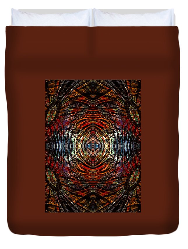 Duvet Cover featuring the digital art Mystic Tiger by Donna Graves