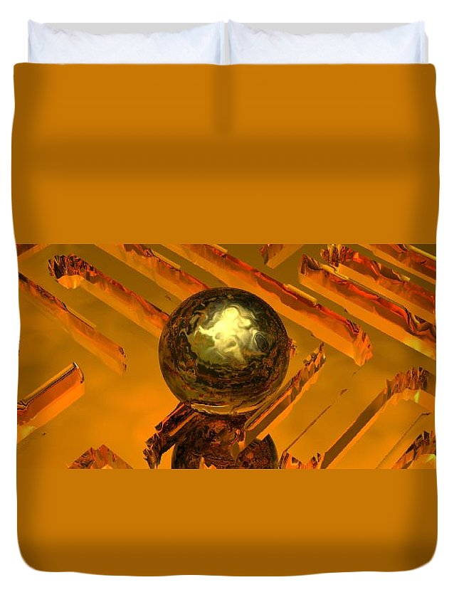 Mystical Duvet Cover featuring the digital art Mystic Vision by Oscar Basurto Carbonell