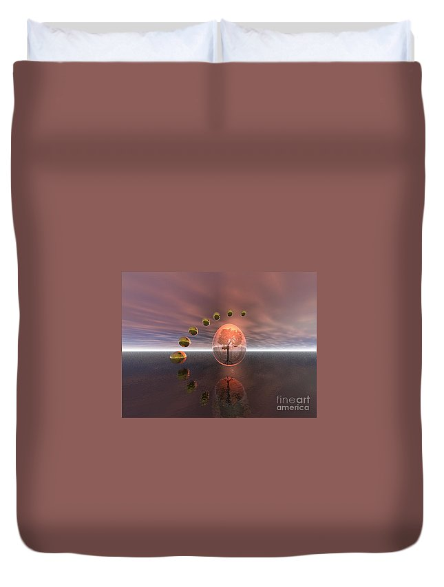 Mystical Duvet Cover featuring the digital art Mystical Surrealism by Oscar Basurto Carbonell