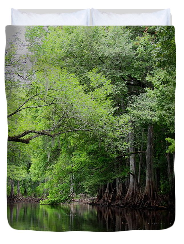Withlacoochee River Duvet Cover featuring the photograph Mystical Withlacoochee River by Barbara Bowen