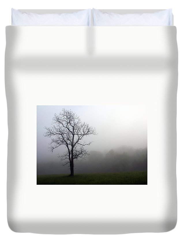 Tree Duvet Cover featuring the photograph Mysty Tree by Marty Koch