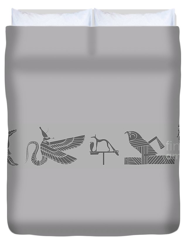 Demon Duvet Cover featuring the digital art Mythical Creatures by Michal Boubin