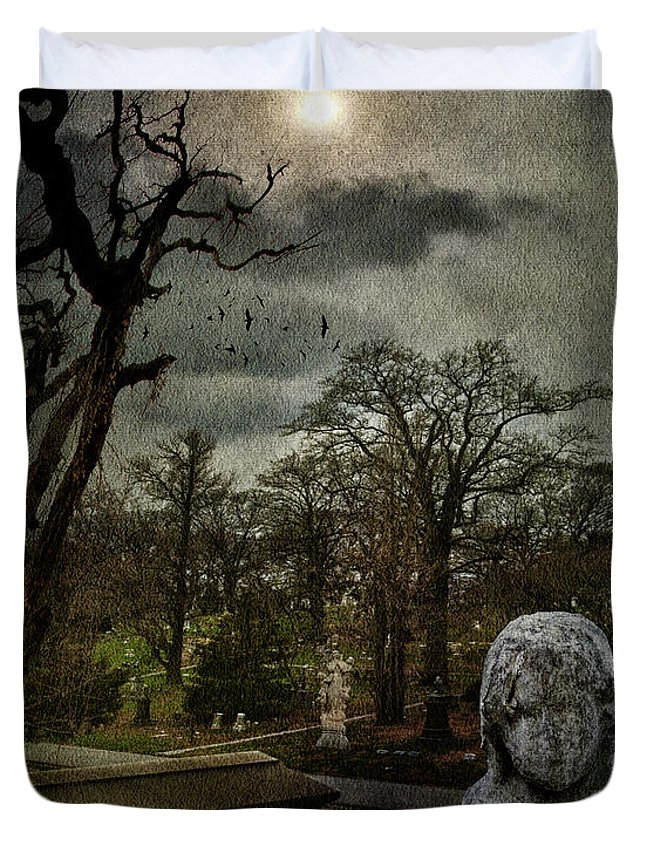 Necropolis Duvet Cover featuring the photograph N E C R O P O L I S by Chris Lord