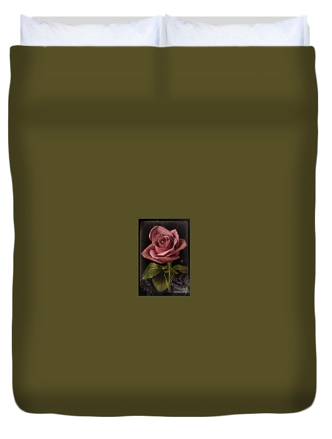 Rose Duvet Cover featuring the photograph N150628 by Jim Hansen