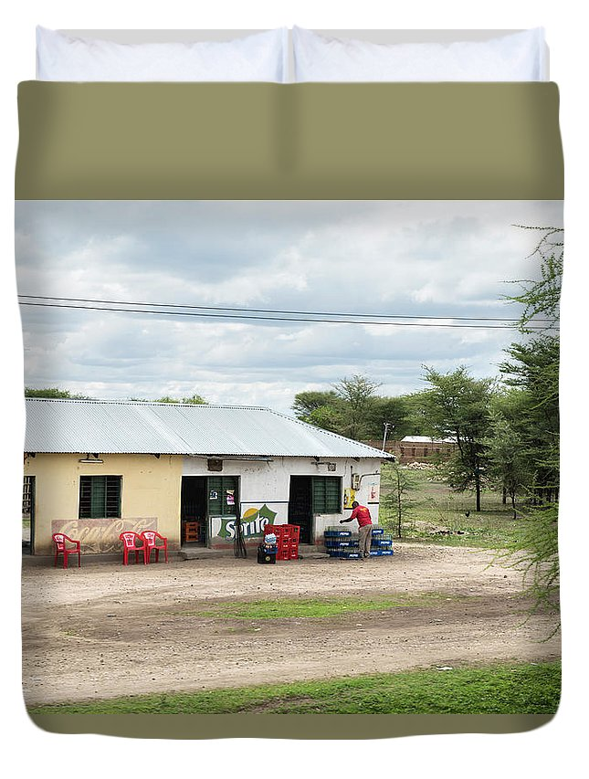 Nada Duvet Cover featuring the photograph Nada Grocery by RicardMN Photography
