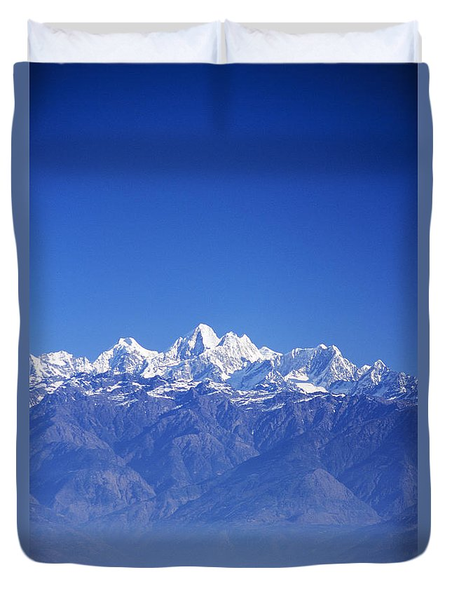 Air Art Duvet Cover featuring the photograph Nagarkot View by Gloria & Richard Maschmeyer - Printscapes