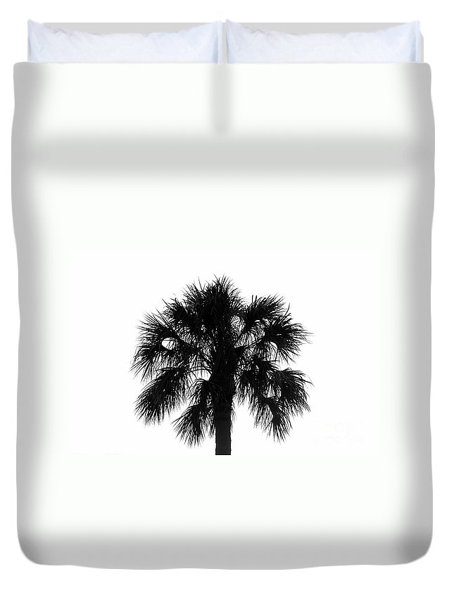 Palm Tree Duvet Cover featuring the photograph Naked Palm by David Lee Thompson