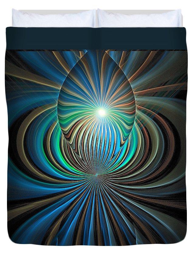 Digital Art Duvet Cover featuring the digital art Namaste by Amanda Moore