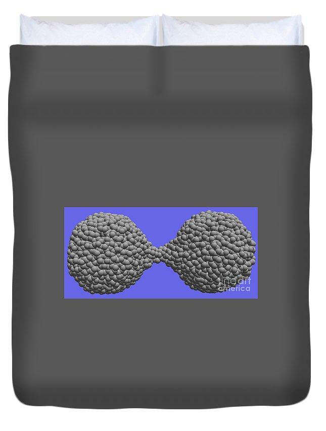 Science Duvet Cover featuring the photograph Nanoscale Ductility, 2 Of 2 by NIST/Science Source