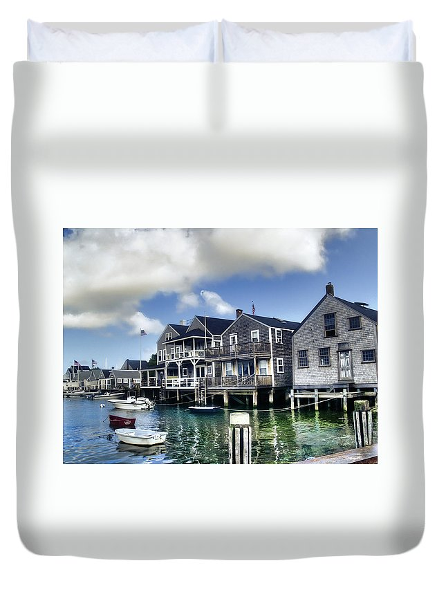 Nantucket Duvet Cover featuring the photograph Nantucket Harbor In Summer by Tammy Wetzel