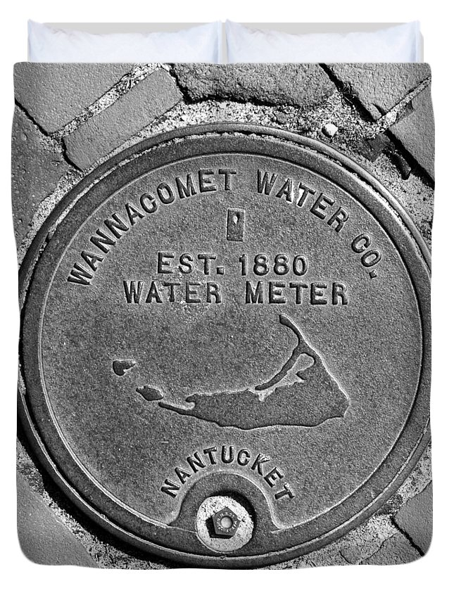 Nantucket Duvet Cover featuring the photograph Nantucket Water Meter Cover by Charles Harden