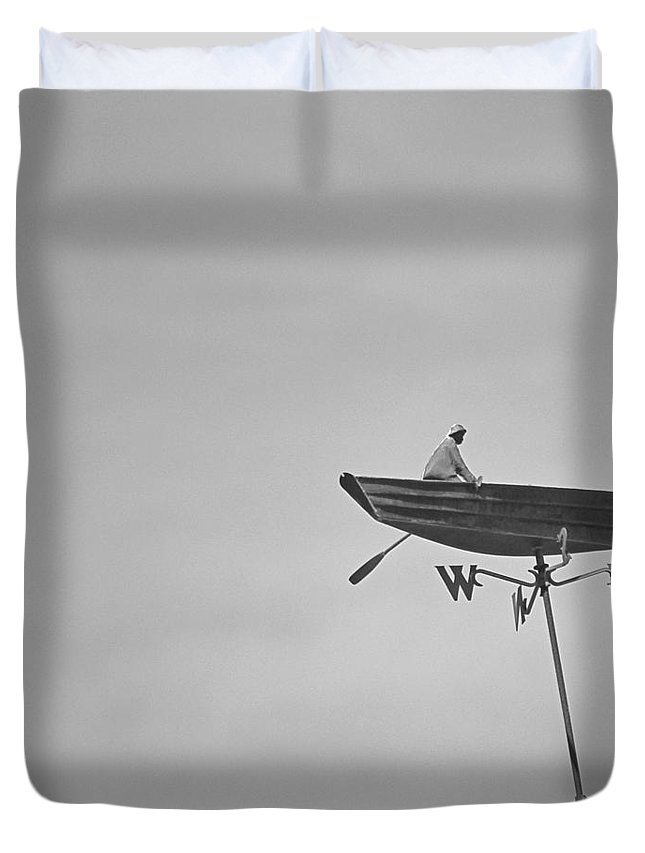 Nantucket Duvet Cover featuring the photograph Nantucket Weather Vane by Charles Harden