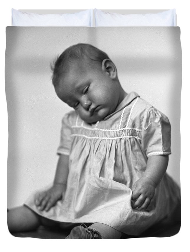 Baby Duvet Cover featuring the photograph Nap Time Is Now by Seely Studio