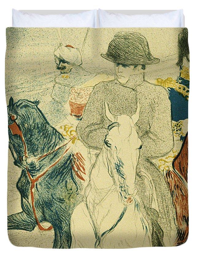 Napoleon Duvet Cover featuring the painting Napoleon Bonapart by Henri De Toulouse Lautrec