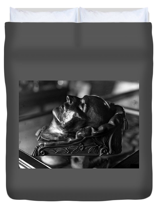 Napoleon Duvet Cover featuring the photograph Napoleon Death Mask by Crescent City Collective