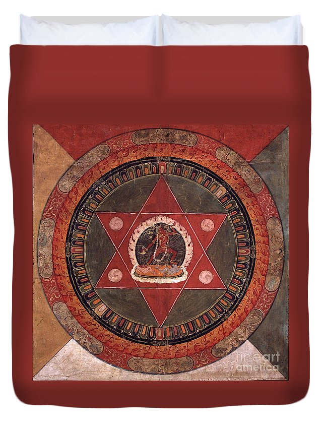 Witchcraft Duvet Cover featuring the digital art Naropa Mandala by Frederick Holiday