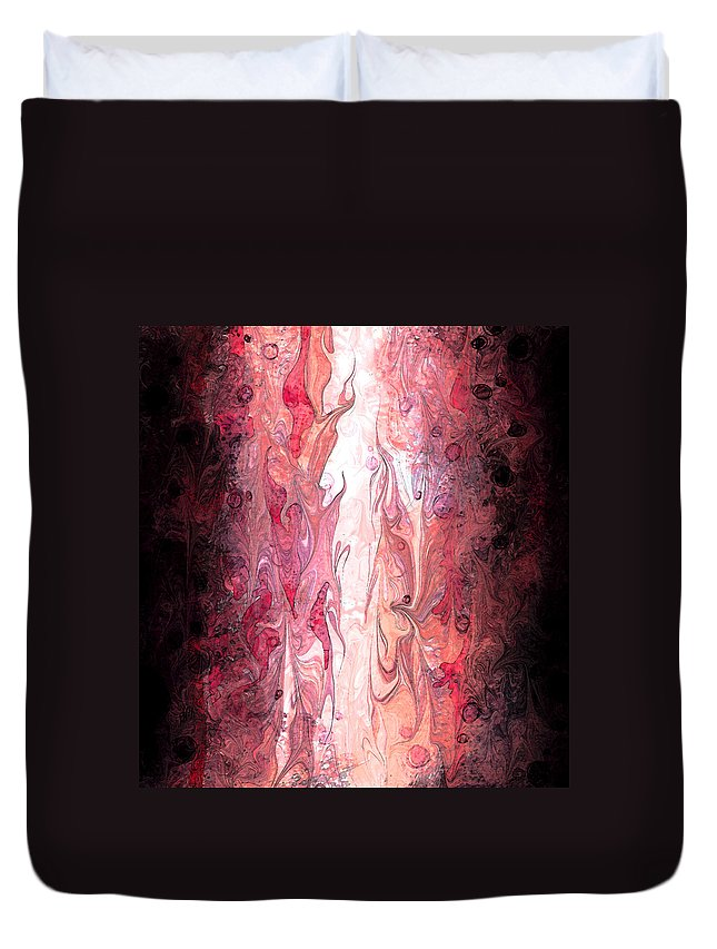 Abstract Duvet Cover featuring the digital art Narrow Passages by Rachel Christine Nowicki