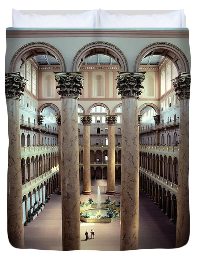National Building Museum Duvet Cover featuring the photograph National Building Museum Interior by Sisse Brimberg