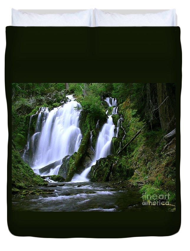 Waterfall Duvet Cover featuring the photograph National Creek Falls 02 by Peter Piatt