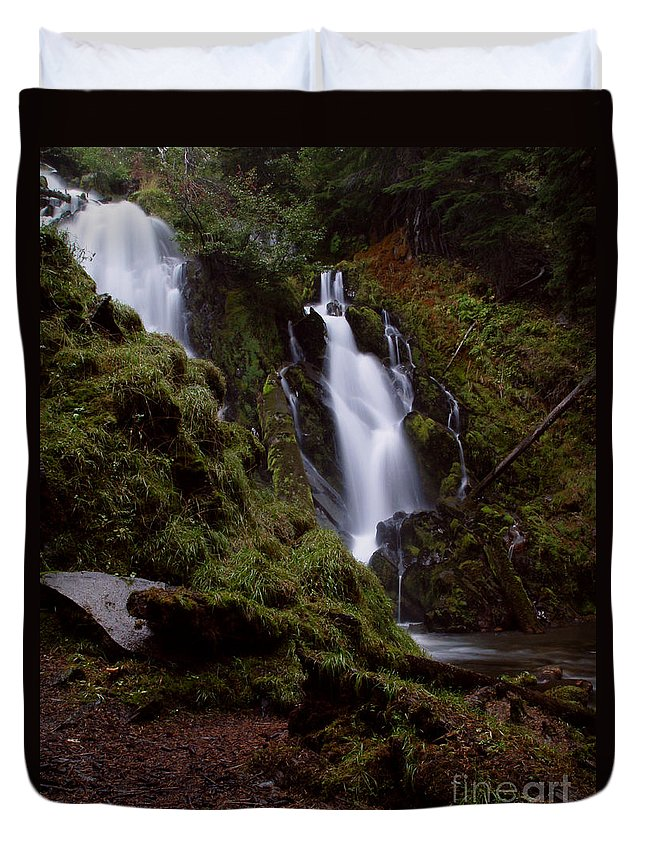 Waterfall Duvet Cover featuring the photograph National Creek Falls 04 by Peter Piatt